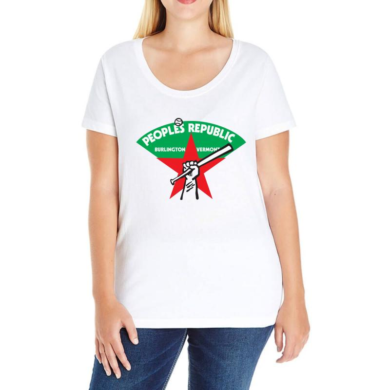 People's Republic Of Burlington Softball Ladies Curvy T-shirt | Artistshot