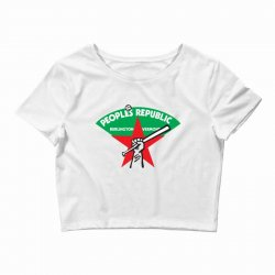 people's republic of burlington softball Crop Top | Artistshot