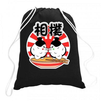 Sumo Sushi Drawstring Bags Designed By Daudart