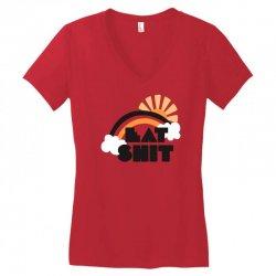 eat shit funny Women's V-Neck T-Shirt | Artistshot