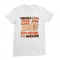 explosions are awesome! funny Ladies Fitted T-Shirt | Artistshot