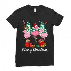 flamingo christmas Ladies Fitted T-Shirt   Artistshot