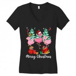 flamingo christmas Women's V-Neck T-Shirt   Artistshot