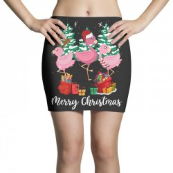 flamingo christmas Mini Skirts   Artistshot