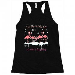 I'm Dreaming Of A Wine Christmas Flamingo Wine Lover Gift Racerback Tank | Artistshot