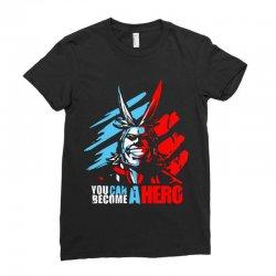 new my hero academia all might plus ultra anime midoriya Ladies Fitted T-Shirt   Artistshot