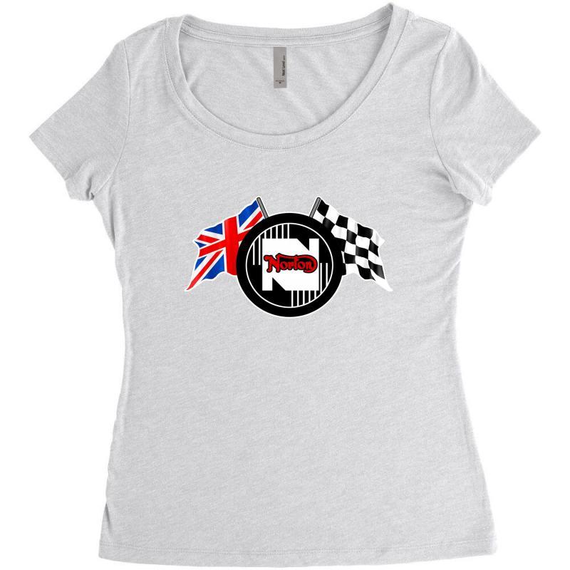 Norton Motorcycles Logo Women's Triblend Scoop T-shirt | Artistshot