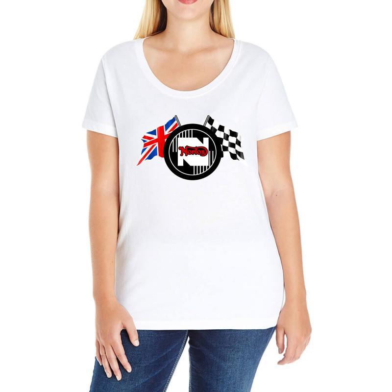 Norton Motorcycles Logo Ladies Curvy T-shirt   Artistshot