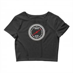 fill up on coffee! funny Crop Top | Artistshot
