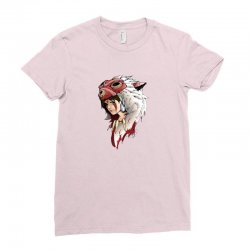 mononoke wolf anime Ladies Fitted T-Shirt | Artistshot