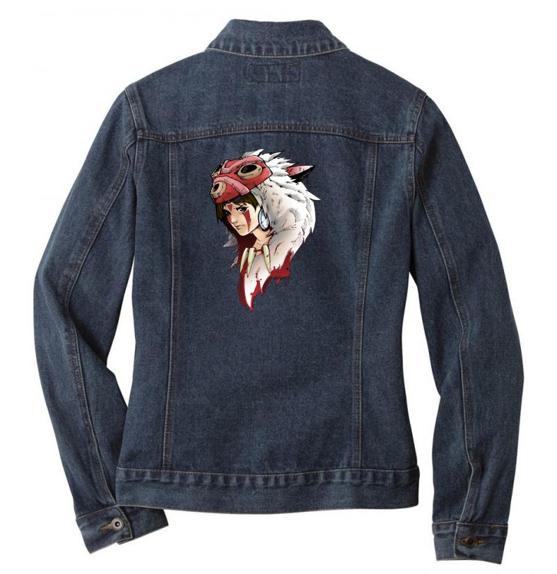Mononoke Wolf Anime Ladies Denim Jacket | Artistshot