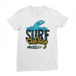 surf san diego california Ladies Fitted T-Shirt | Artistshot