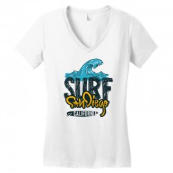 surf san diego california Women's V-Neck T-Shirt | Artistshot