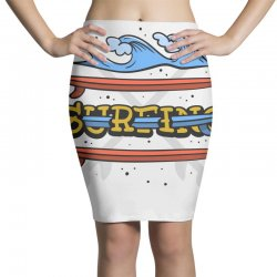 surf surfig (3) Pencil Skirts   Artistshot