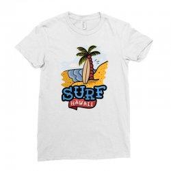 surf surfig hawaii Ladies Fitted T-Shirt | Artistshot