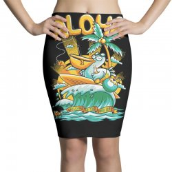 surfing in aloha island Pencil Skirts | Artistshot