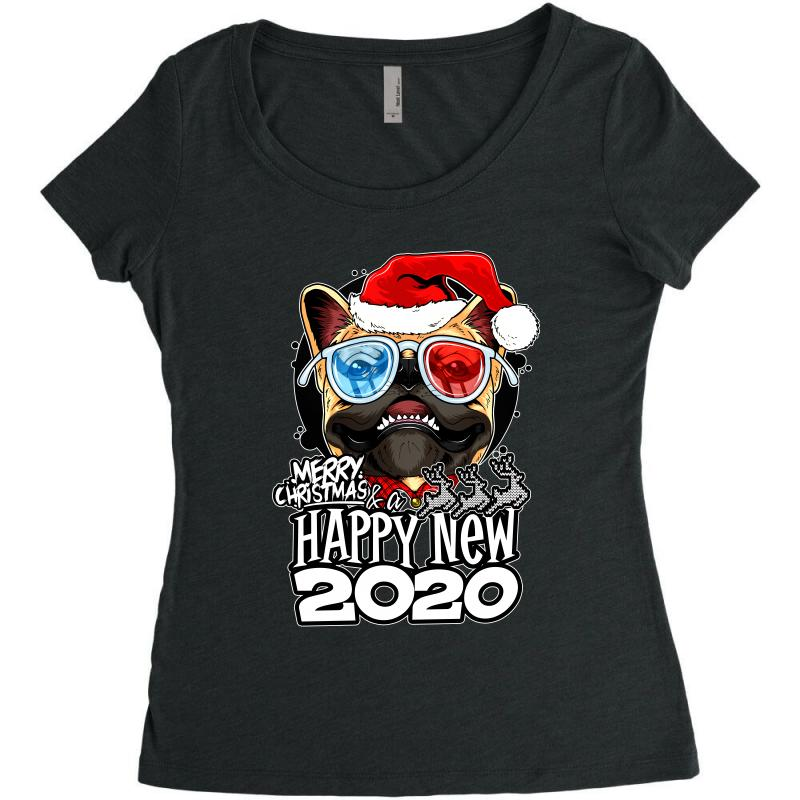 Happy New 2020 Women's Triblend Scoop T-shirt | Artistshot