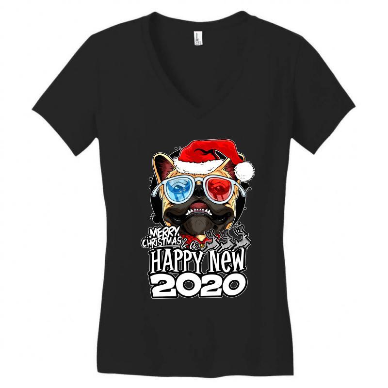 Happy New 2020 Women's V-neck T-shirt | Artistshot