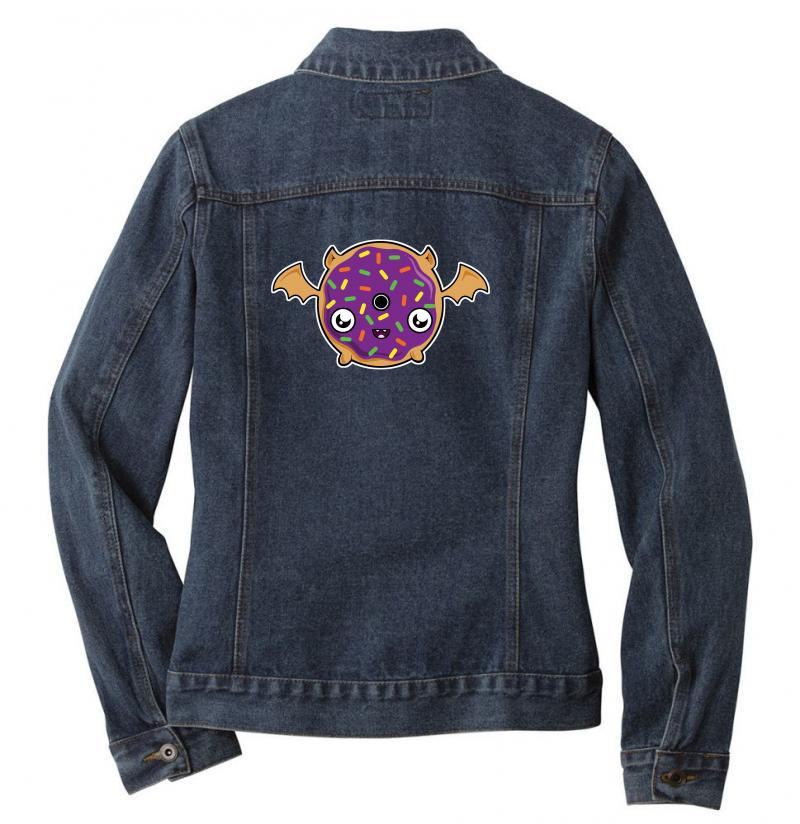 Donut Bat Ladies Denim Jacket | Artistshot