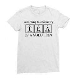 t e a is a solution Ladies Fitted T-Shirt | Artistshot