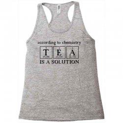t e a is a solution Racerback Tank | Artistshot