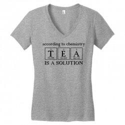 t e a is a solution Women's V-Neck T-Shirt | Artistshot