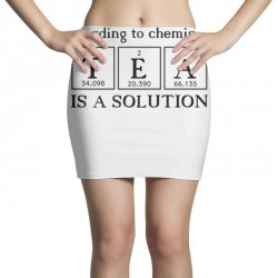 t e a is a solution Mini Skirts | Artistshot