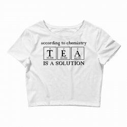 t e a is a solution Crop Top | Artistshot