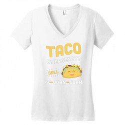taco emergency call 9 juan juan Women's V-Neck T-Shirt | Artistshot