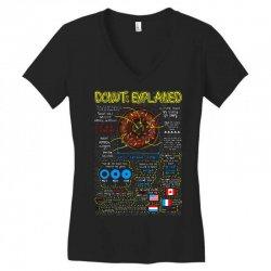 donuts explained Women's V-Neck T-Shirt | Artistshot