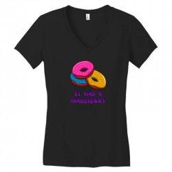 donuts Women's V-Neck T-Shirt   Artistshot