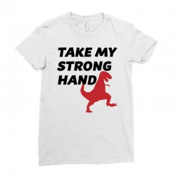 take my strong hand Ladies Fitted T-Shirt   Artistshot