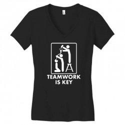teamwork Women's V-Neck T-Shirt | Artistshot