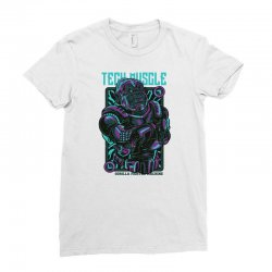 tech muscle Ladies Fitted T-Shirt | Artistshot