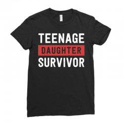 teenage daughter survivor Ladies Fitted T-Shirt | Artistshot