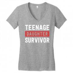 teenage daughter survivor Women's V-Neck T-Shirt | Artistshot