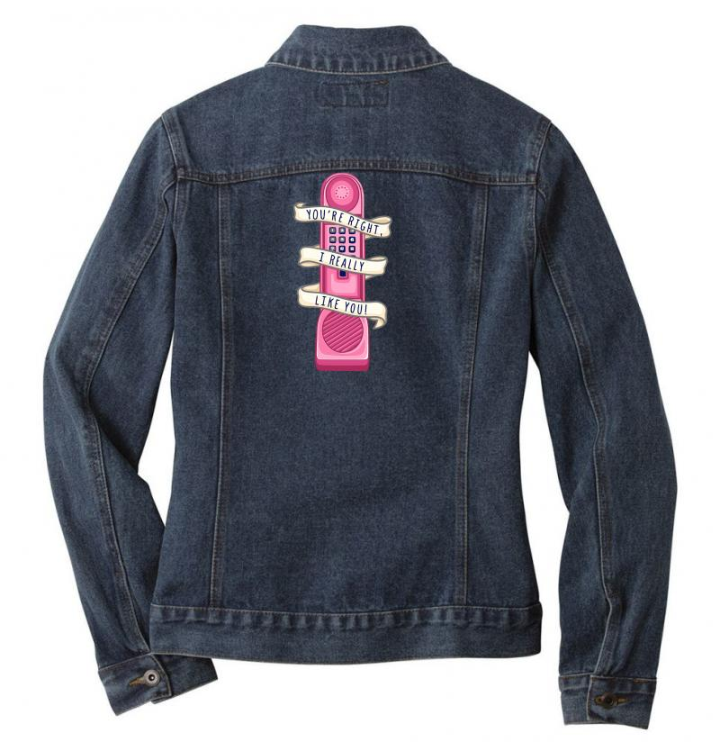 Dream Phone Ladies Denim Jacket | Artistshot