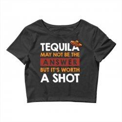 tequila shots Crop Top | Artistshot
