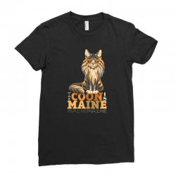 the coon is maine Ladies Fitted T-Shirt | Artistshot
