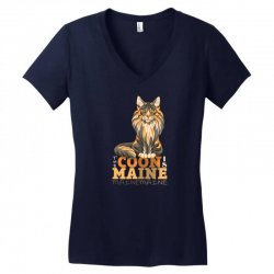 the coon is maine Women's V-Neck T-Shirt | Artistshot