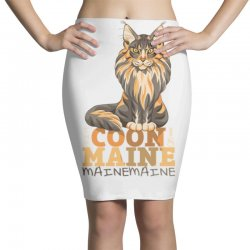 the coon is maine Pencil Skirts | Artistshot