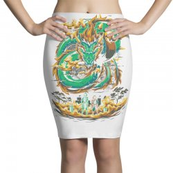 the final boss Pencil Skirts | Artistshot