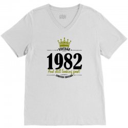 vintage 1982 and still looking good V-Neck Tee | Artistshot