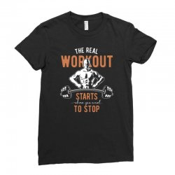 the real workout Ladies Fitted T-Shirt | Artistshot