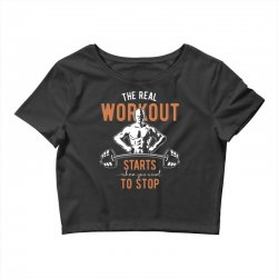 the real workout Crop Top | Artistshot