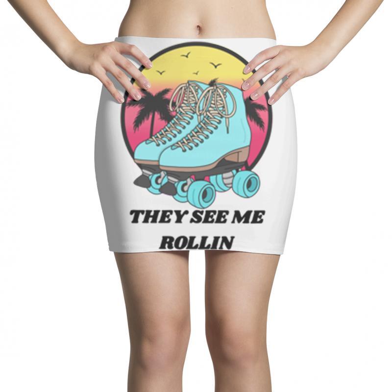 They See Me Rollin Mini Skirts | Artistshot