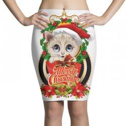 Merry Christmas Cat Lady Pencil Skirts | Artistshot