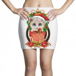 Merry Christmas Cat Lady Mini Skirts | Artistshot