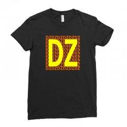 dz center Ladies Fitted T-Shirt | Artistshot