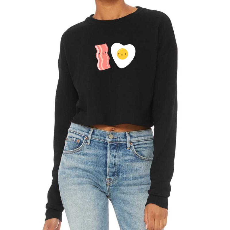 Eggs And Bacon Are So Kawaii Cropped Sweater | Artistshot